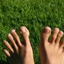 Blote voetenpad